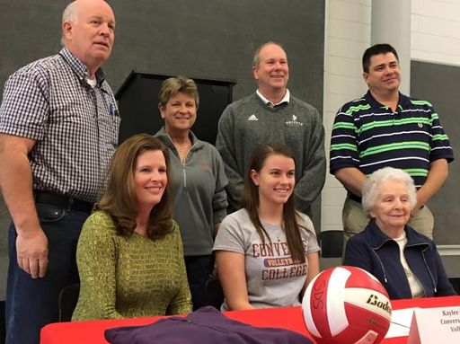 Senior Kaylee Owens signs letter of intent to play volleyball at Converse College