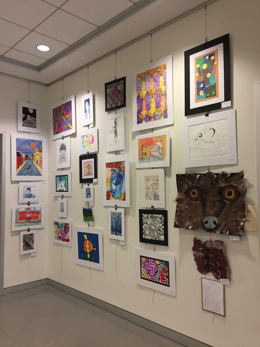 SDS participates in Youth Art Month at CCC