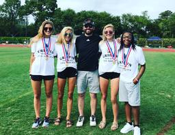 Varsity track and Field compete at State Championships: Babb champion in four events.