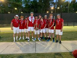 Boys' Varsity Tennis win the SCISA 2A State Championship!