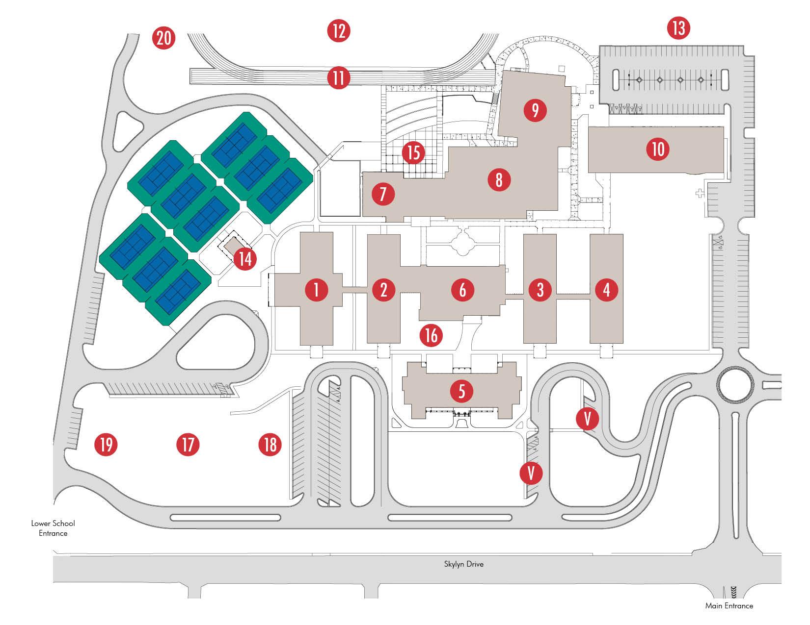 School Campus Map.Campus Map Spartanburg Day School